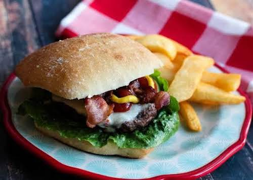 """Smoky Jalapeno Bacon Cheeseburgers """"With the perfect amount of heat and smokiness,..."""