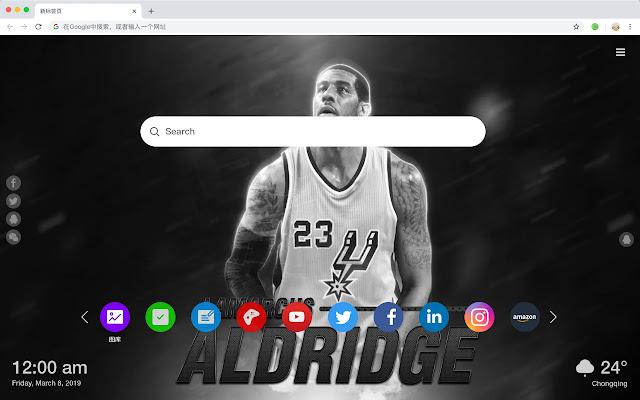 San Antonio Spurs Popular HD New Tabs Themes