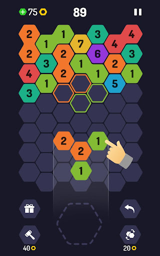 UP 9 - Hexa Puzzle! Merge Numbers to get 9 - screenshot