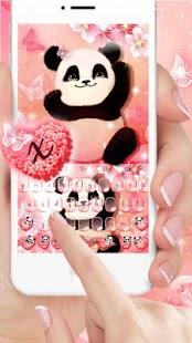 Panda Sakura Keyboard Theme - náhled