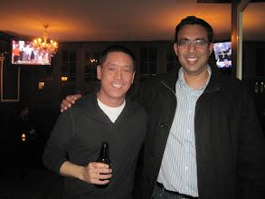 Photo: NYC alumni at Tammany Hall Tavern: Andy Chen '05, Tarush Nihalani '09