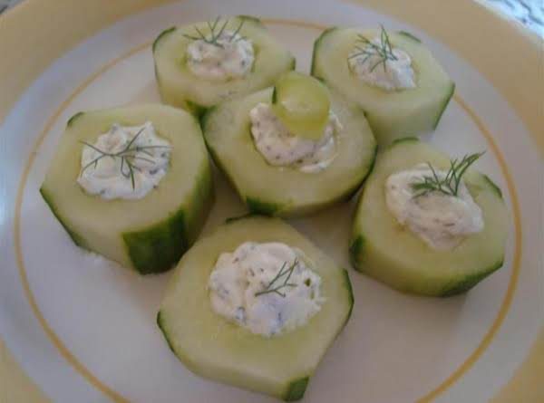 Creamy english cucumber bites recipe just a pinch recipes creamy english cucumber bites recipe forumfinder Choice Image