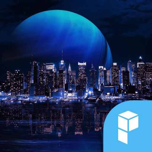 Digital City launcher theme