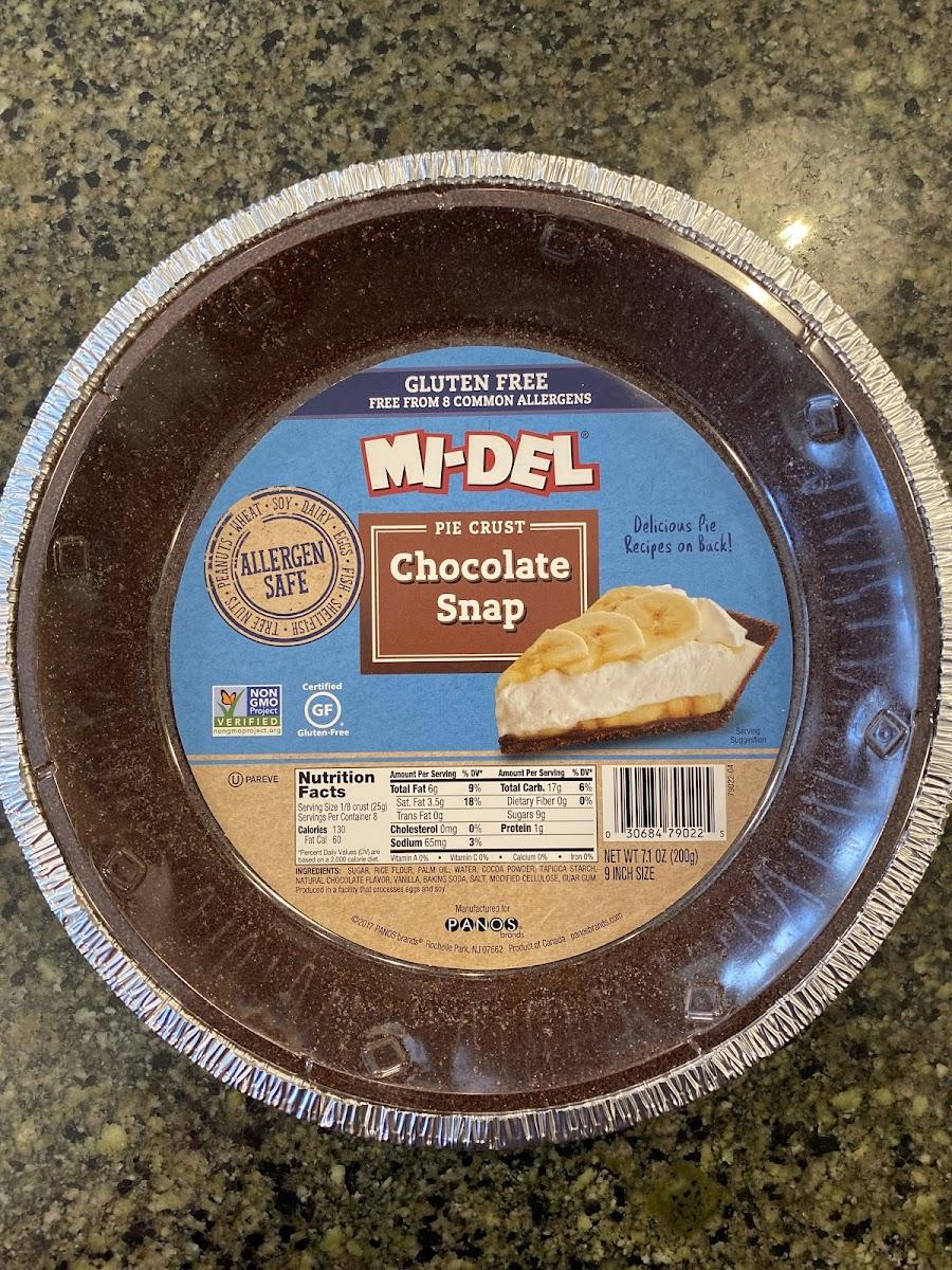 Mi-Del, Chocolate Snap Pie Crust