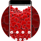 Tải Valentine Day theme red love hearts wallpaper APK