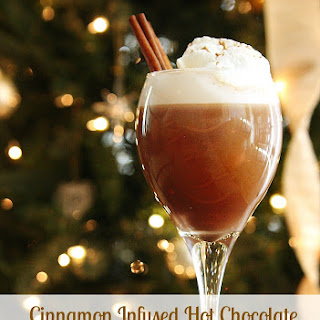 Cinnamon Infused Hot Chocolate w/ Southern Comfort Whipped Cream #SundaySupper