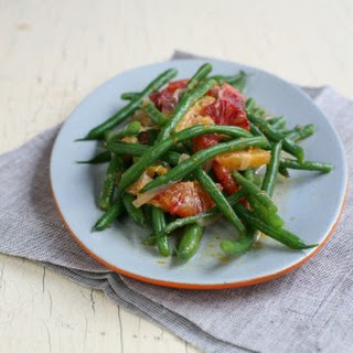 Green Beans with Blood Orange and Tangerine Dressing.