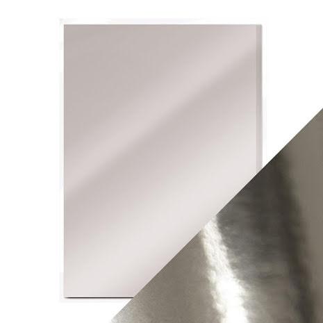 Tonic Studios Craft Perfect Mirror Card A4 250gm - Chrome Silver