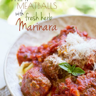 Mini Meatballs with Fresh Herb Marinara.
