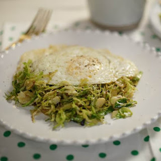 3-Ingredient Brussels Sprout Hash with Egg Recipe