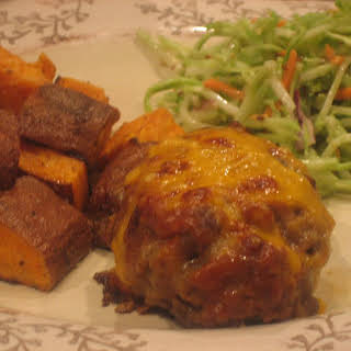 Mini Honey Mustard Meatloaves with Roasted Potatoes.