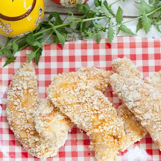 Gluten Free Oven Fried Crispy Chicken Tenders