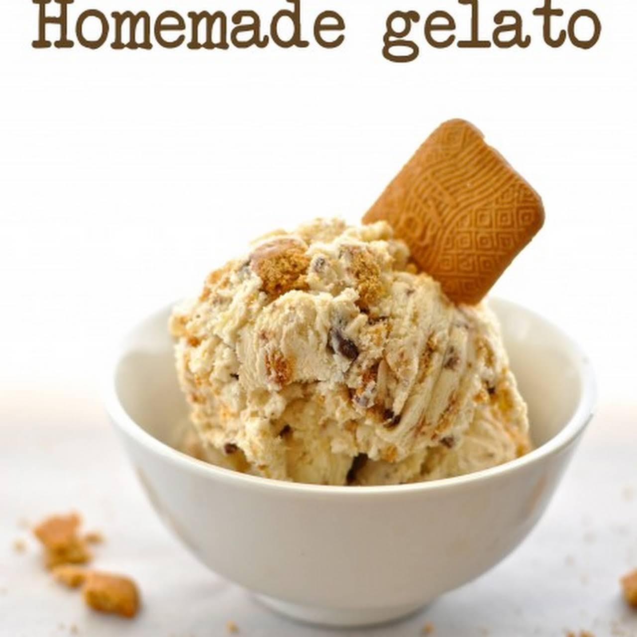 Choc-o-nut Biscuit Gelato
