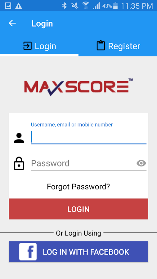 Maxscore- screenshot