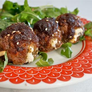 Baked Bulgogi Lamb Meatballs With Feta