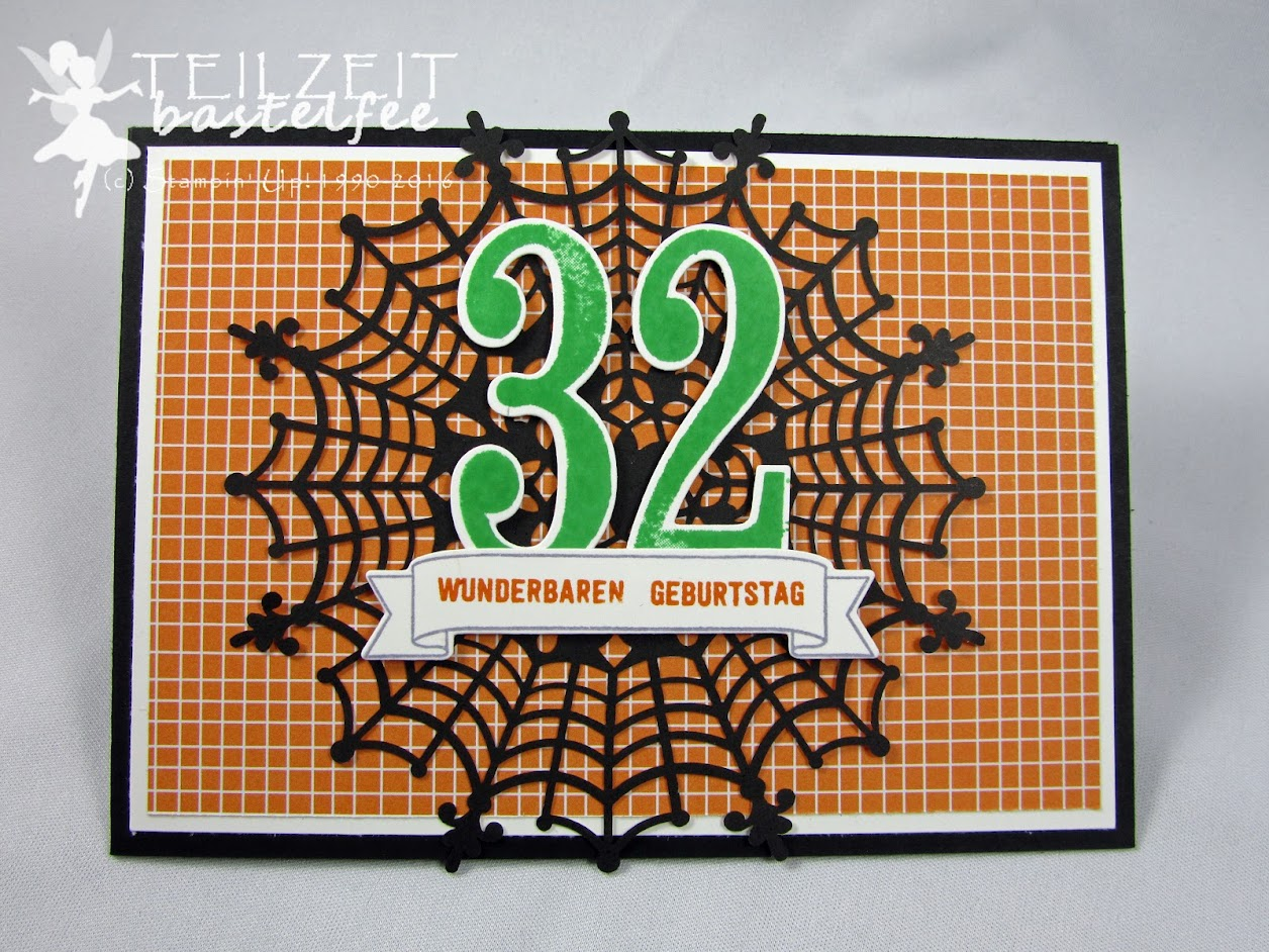 Stampin' Up! – In{k}spire_me #271, DP Gruselnacht, DSP Halloween Night, So viele Jahre, Number of Years, Bannerweise Grüße, Thoughtful Banners, Stanze Bannerduo, Duet Banner Punch, Popcorn Box Thinlits, Large Number Framelits