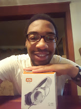 Photo: 24 in 24 giveaway winner Shammoi B. from the US showing off his new V-Moda XS.