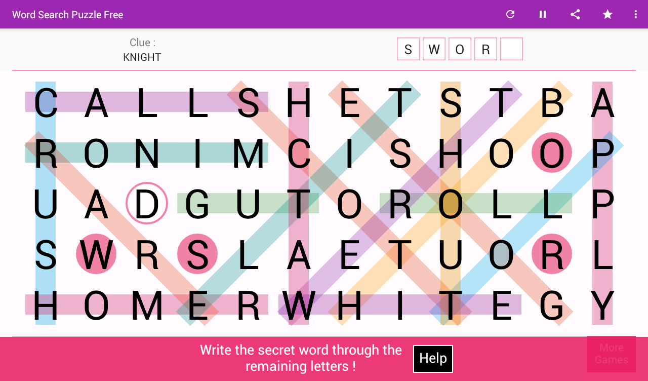 Word Search Games- screenshot