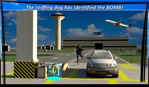 警察犬スニッフィング