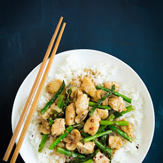 Ginger Chicken Stir-Fry with Asparagus.