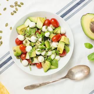 Mozzarella Avocado Caprese Salad