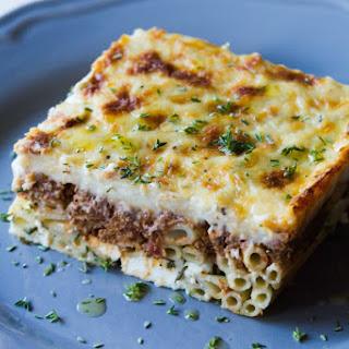 Pastitsio - Aki's Special Baked Pasta Casserole