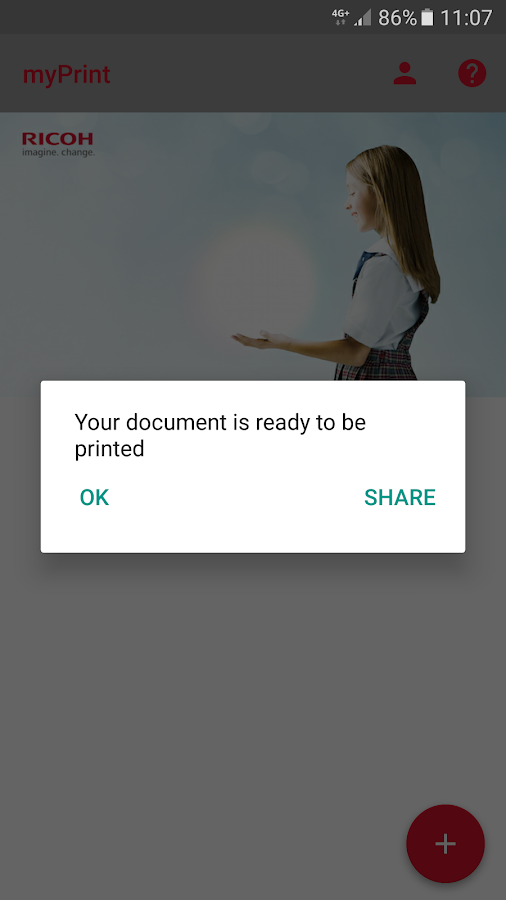 Ricoh myPrint- screenshot