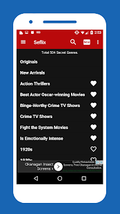 Seflix - NETFLIX Secret Genres- screenshot thumbnail