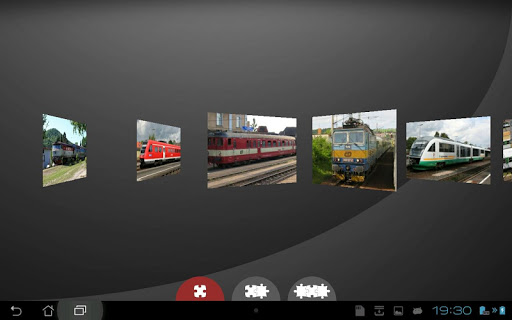 列車のジグソーパズル