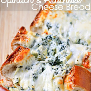 Stuffed Spinach & Artichoke Bread.