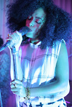 Photo: Solange Knowles works the stage at the Topshop opening party.  Shop LA Style > http://bit.ly/XbGtM6