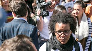 Imagen de Ana Julia Quezada durante una de las manifestaciones en Puerta Purchena.