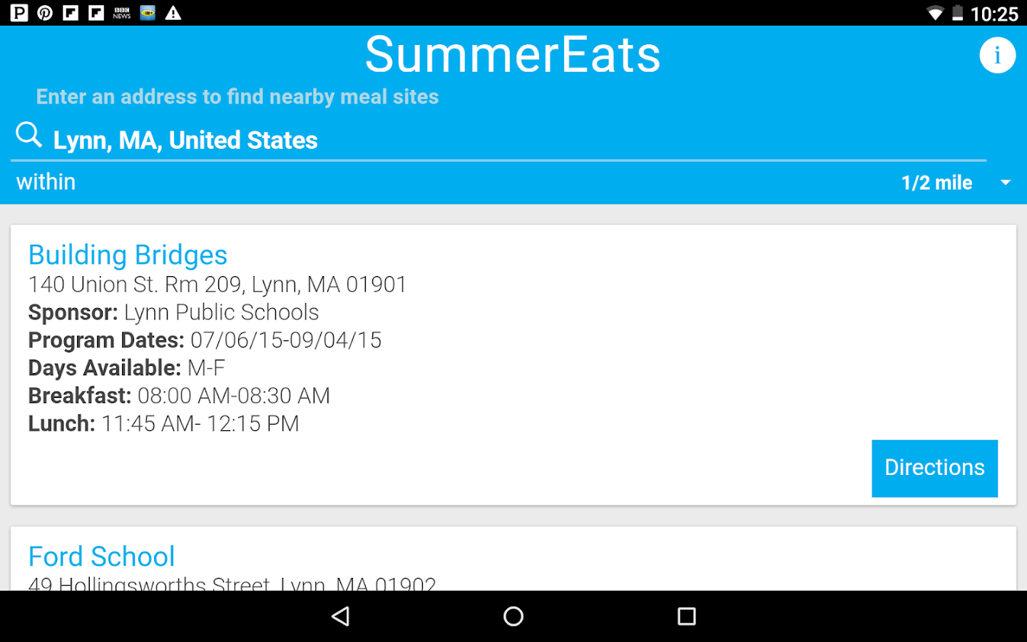 SummerEats- screenshot