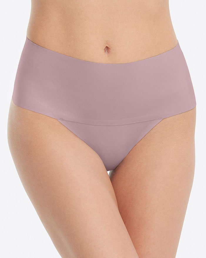 Spanx Undie-techtable Thong courtesy of the undisputed queen of invisible undergarments to wear under leggings