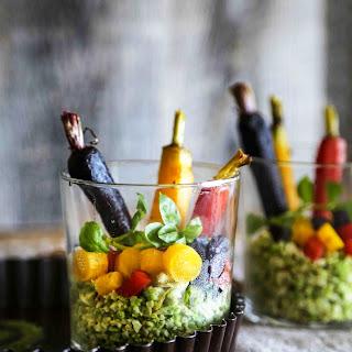 Romanesco Rice & Carrot Salad With Kale Pesto