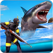 Angry Shark Attack: Deep Sea Shark Hunting Games