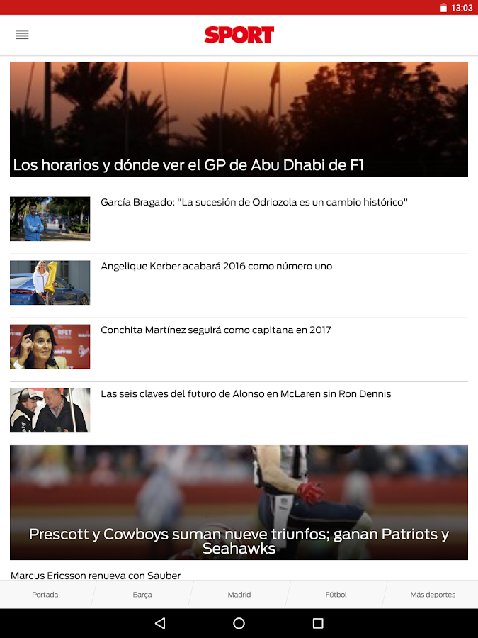 SPORT.es- screenshot