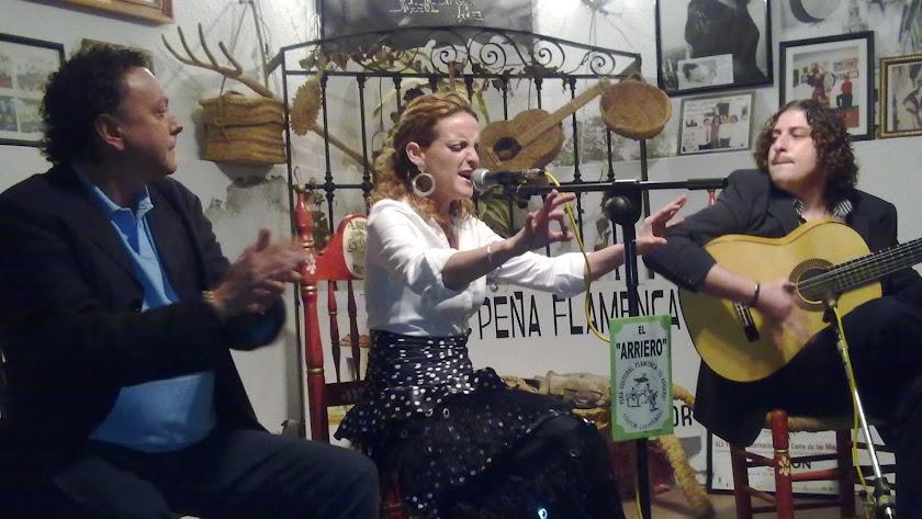 La cantaora Rocío Zamora en una de sus actuaciones.