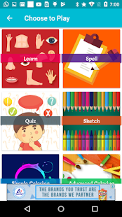 Body Parts-Learn, Spell, Quiz, Draw, Color & Games - náhled