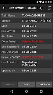 Indian Train Status - screenshot thumbnail