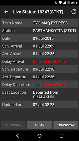Indian Train Status 6.85 screenshot 107409