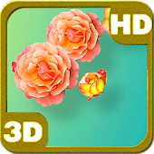 Tender Yellow Pink Roses 3D
