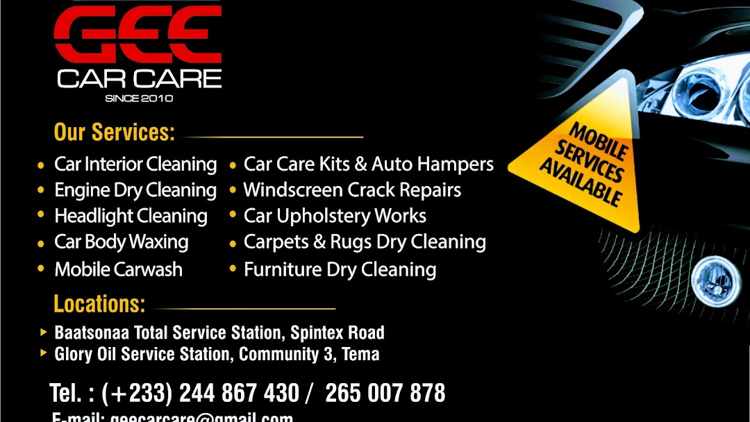 Gee Car Care Services - Car Detailing Service in Accra