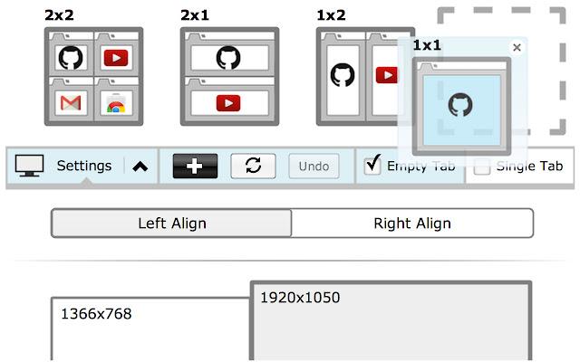 Tab Resize Split Screen Layouts