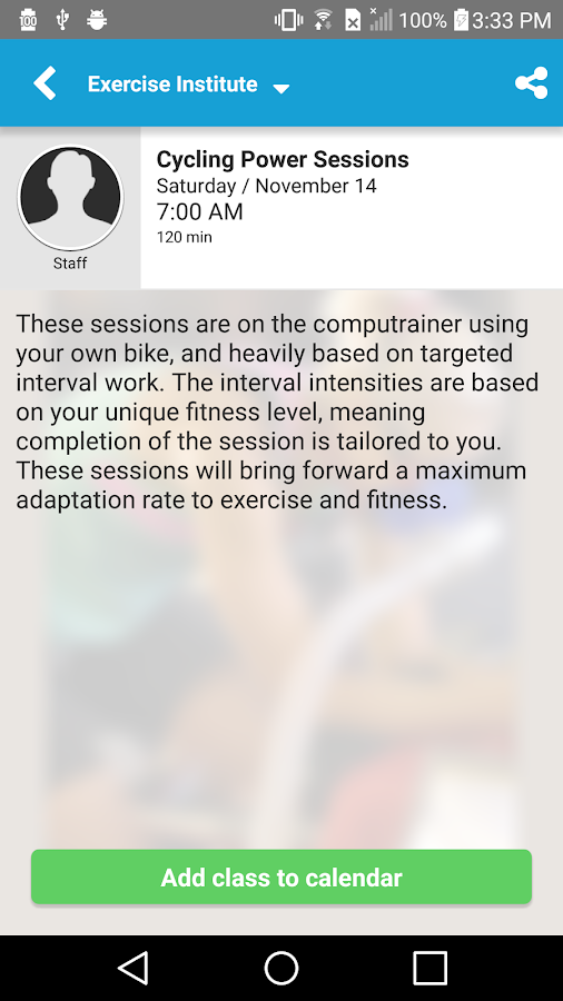 Exercise Institute- screenshot