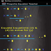 Progwhiz Equation Teacher
