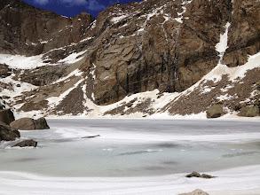 Photo: Chasm Lake at 11780 feet above sea level
