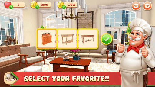Cooking Home: Design Home in Restaurant Games 1.0.10 screenshots 7