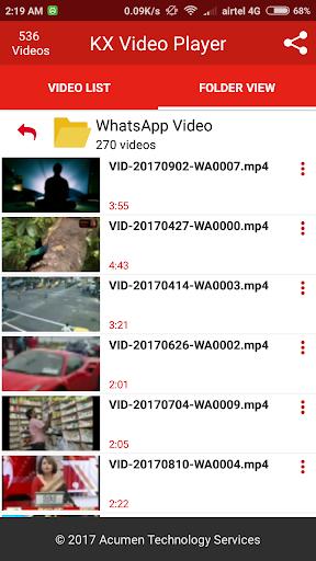 KX Video Player - Full HD Video Player 1.7.0 screenshots 4