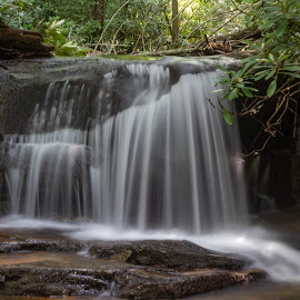 Small Waterfall  by Teresa Solesbee - Nature Up Close Water ( nature, waterfall, up close, table rock, canon,  )